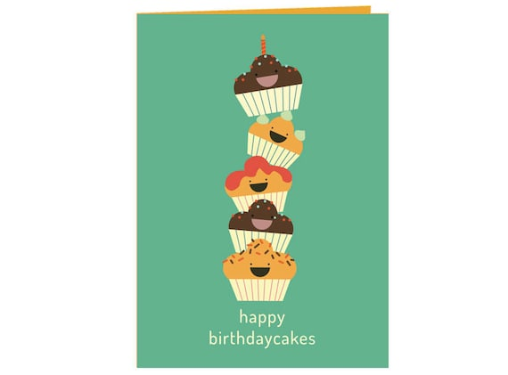 Sensational Funny Happy Birthday Cakes Birthday Card Kids And Adults Etsy Funny Birthday Cards Online Alyptdamsfinfo