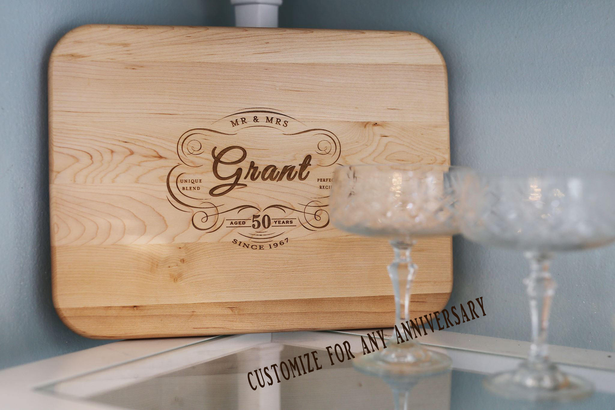 Gifts For 45th Wedding Anniversary: 45th Anniversary Gift Personalized 45th Wedding