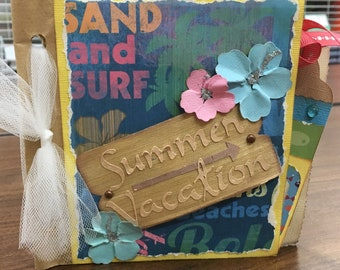 Tropical Summer Vacation Paper Bag Book