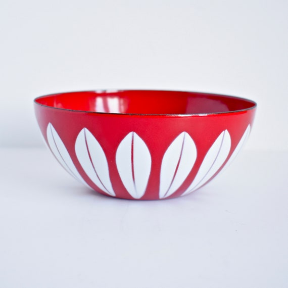 vintage Cathrineholm stripes bowl Black 14cm steel new