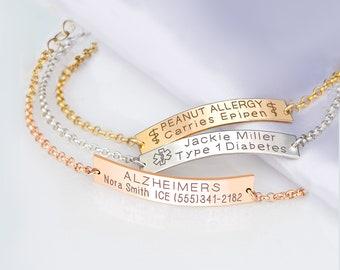 Massive Sterling Silver Italian ID Bracelet Figaro Link 11 16 inch wide NICKEL FREE 9 inch Medical ID Bracelet, Medical A