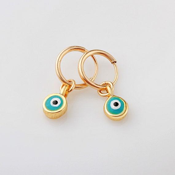 earrings evil eye earrings gold evil eye gift for her cute earrings, dainty earrings Evil eye earrings tiny stud earrings
