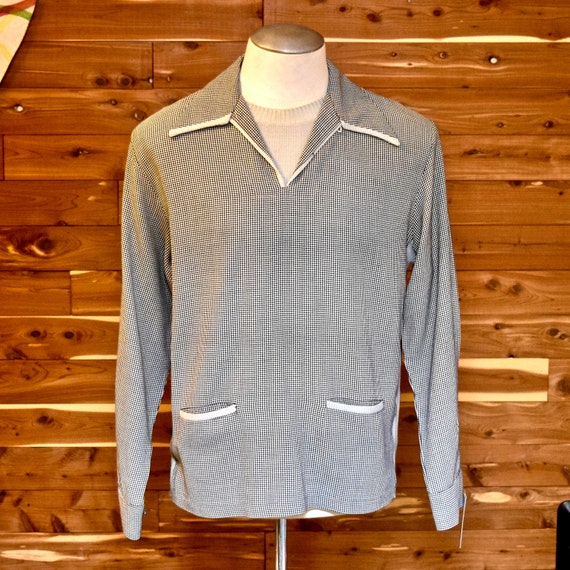 1940s / 1950s Two Tone Houndstooth Check Pull Over