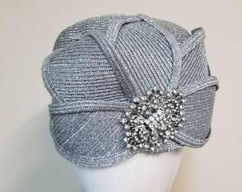 0664fbd5237 Silver pillbox hat