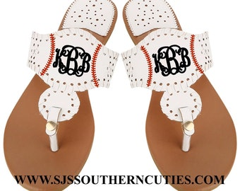 de4322ee7038ea Monogrammed Sports Sandals- BASEBALL SANDALS