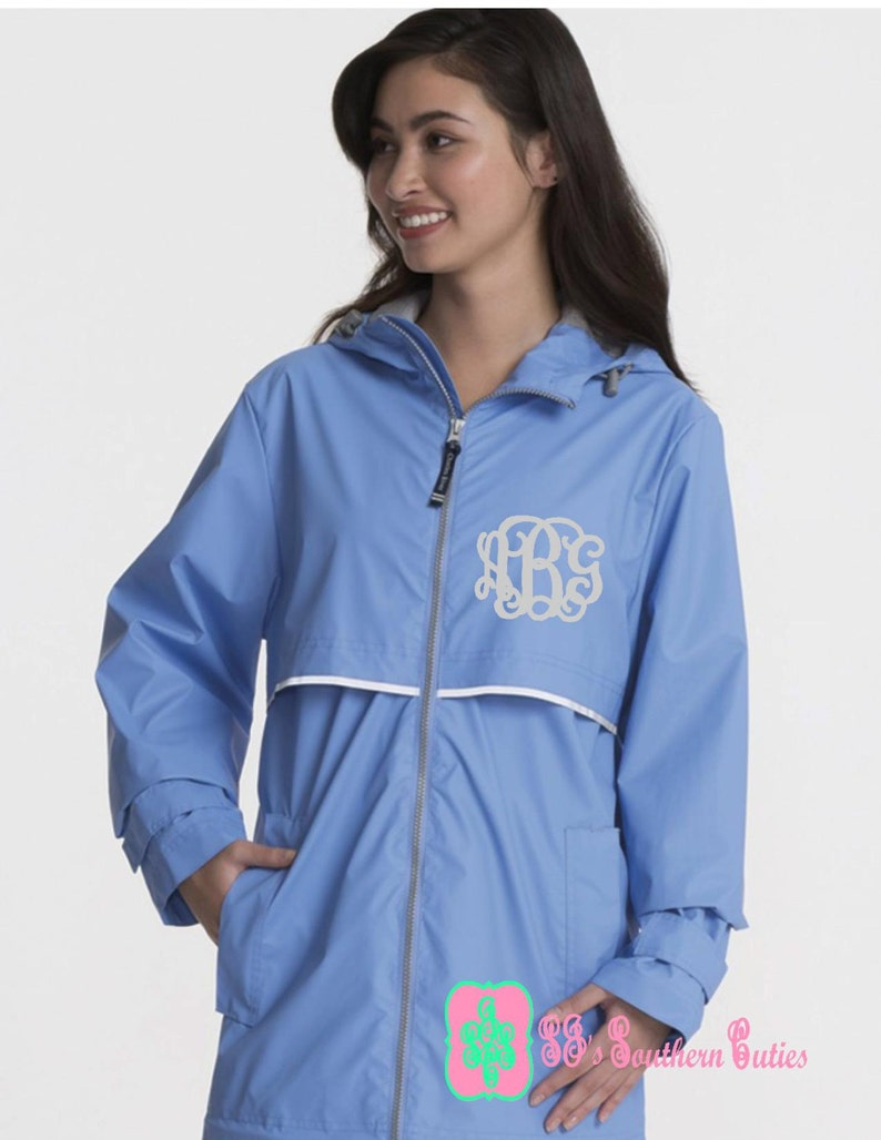 autumn shoes online here hot-selling discount Monogrammed PERIWINKLE Rain Jacket , Rain Jacket With Free Monogramming  Personalized New Englander Rain Jacket