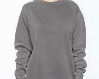Monogrammed Comfort Colors Sweatshirt Personalized Sweatshirt