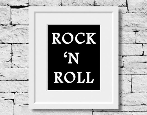 Rock And Roll Music Prints Singing Quotes Music Quotes Etsy