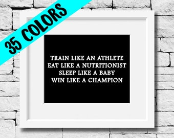 Fitness Quote, Nutrition Quote, Exercise Quote, Workout Quote, Sports Quote, Success Quote, Motivational Print, Fitness Print, Gym Print