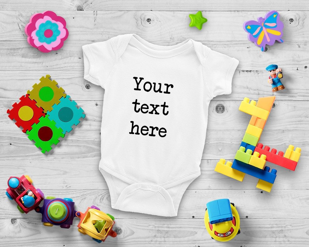 f4ad2c389 Custom Baby Bodysuit Personalized One Piece Design Your Own | Etsy