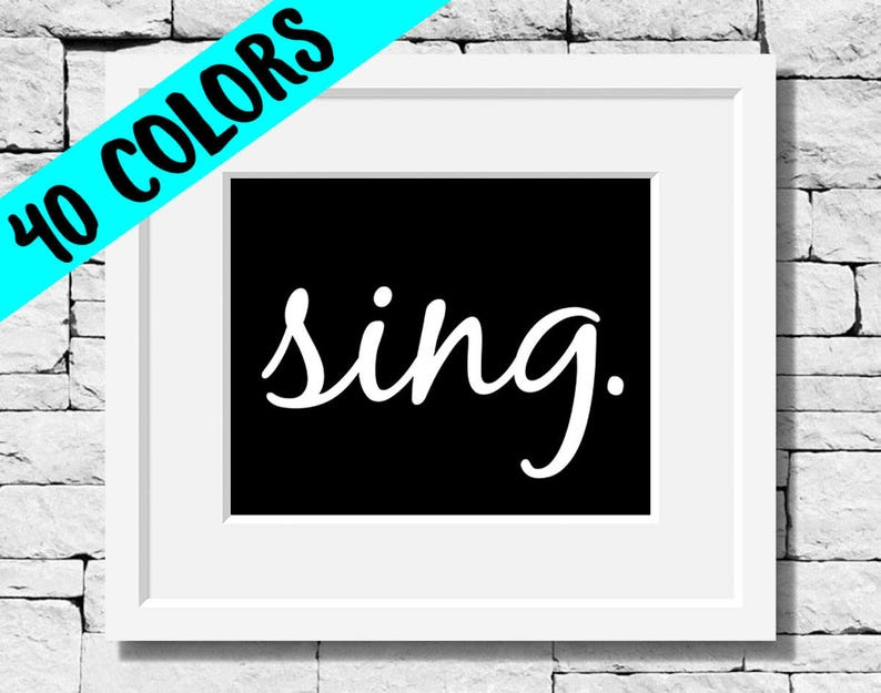 Sing Quotes Music Prints Singing Quotes Music Quotes Etsy