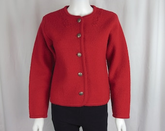 dcf32fc65557ad Vintage 70s Red Pendleton Cardigan