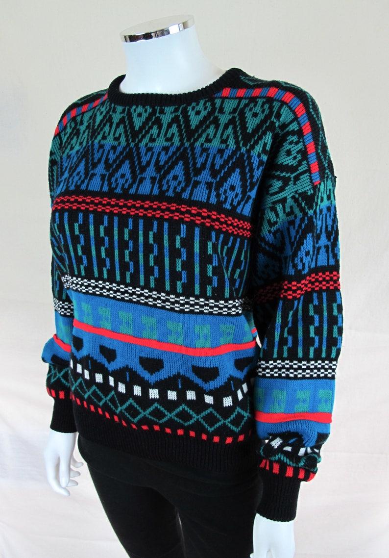 Vtg 80s Canyon River Blues Women/'s Sweater Funky Town