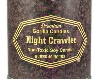 Night Crawler Dirt Scented - Man Candle Bait Shop Collection Hunting Fishing Candle
