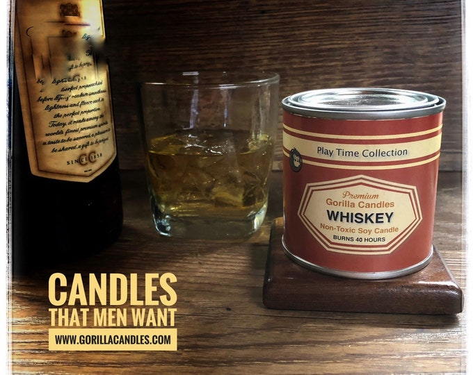 Bourbon Whiskey Scented Soy Candle