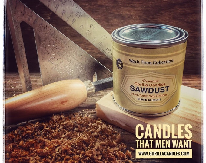 Sawdust Candle Working Man Scents