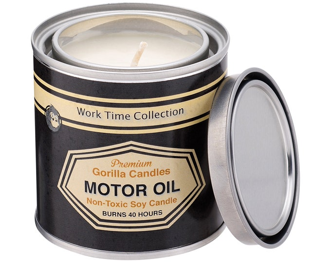 Motor Oil Candle Working Man Scents