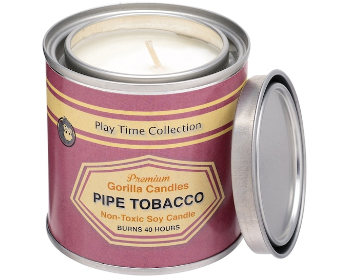 Pipe Tobacco Scented Soy Candle