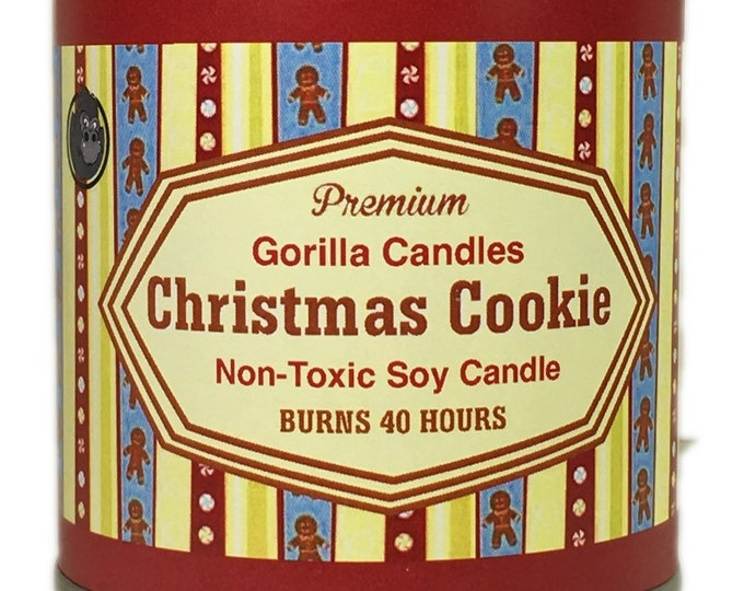 Christmas Cookie Sugar Cookie  Soy Candle 1/2 pint paint can Christmas  Holiday Candle