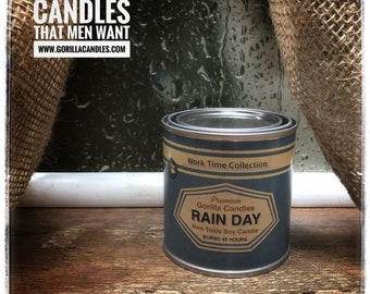 Rain Day Candle Working Man Scents Ocean Breeze