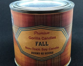 Fall Harvest Scented Candle Fresh Fall scent. apple pumpkin, fresh fallen leaves.