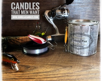 Fishing Pier Scent - Man Candle Bait Shop Collection Hunting Fishing Candle
