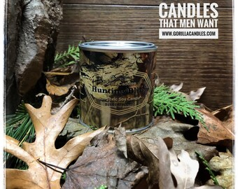 Hunting Blind - Man Candle Bait Shop Collection Hunting Fishing Candle. Woody, Mossy, Pine Scented