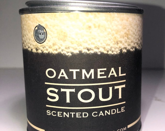 Oatmeal Stout Beer Scented Candle Soy Wax Paint Can Man Candle
