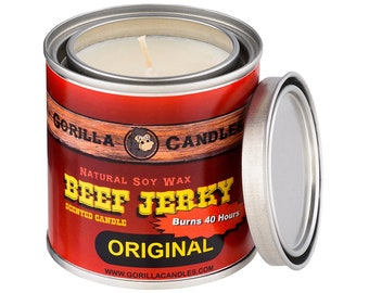 Beef Jerky Scented Candle Soy Wax Paint Can Man Candle