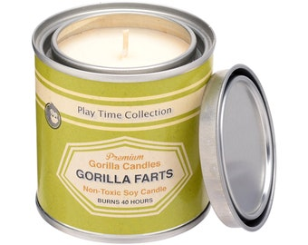 Gorilla Farts aka Monkey Farts Fruity Scented Soy Candle