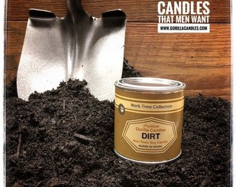 Dirt Scented Candle Working Man Scents