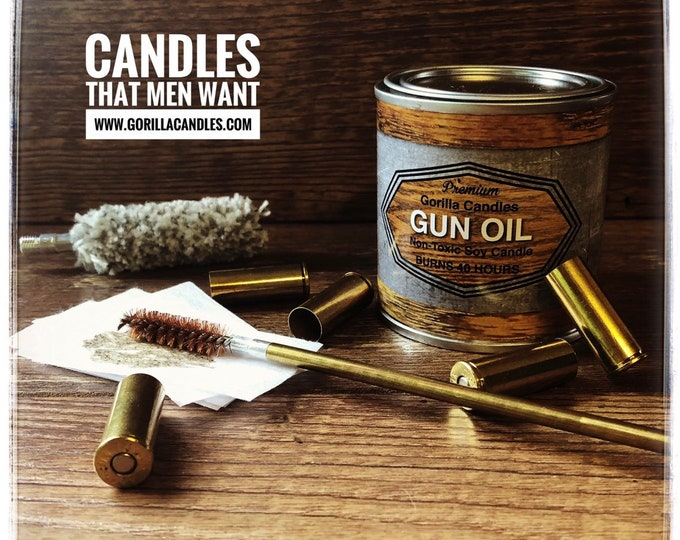 Gun Oil Scented Soy Candle