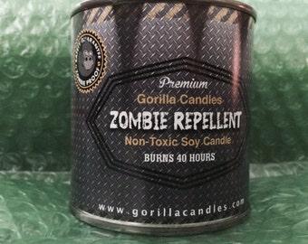 Zombie Repellent Citronella Scented 8 ounce Candle  mosquito repel