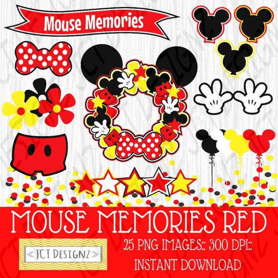 Mouse Memories Clipart Mickey Mouse Inspired Clipart Mickey Etsy