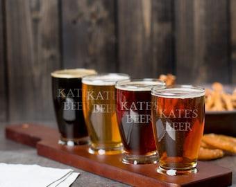 beer flight paddle etsy