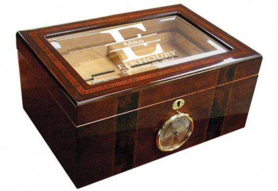 Anniversary Humidor Cigar Box Custom Humidor Cigar Box Etsy