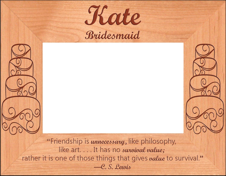 Personalized Wedding Photo Frame Custom Engraved Bridesmaid   Etsy
