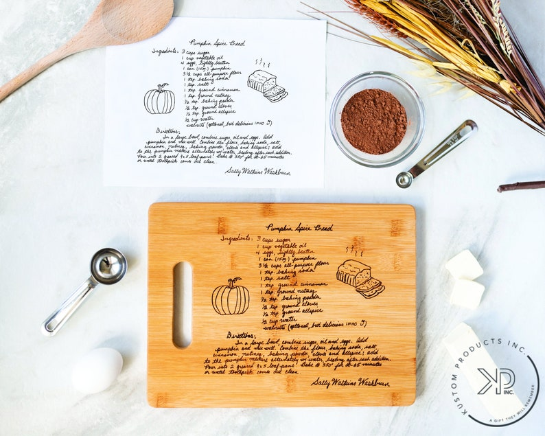 Family Recipe Cutting Board Mother's Day Gift for Mom image 0