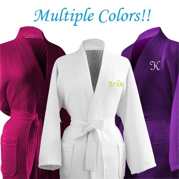 4182e2f6b8 Set of 8 Personalized Robe Bridesmaid Robe Cheap