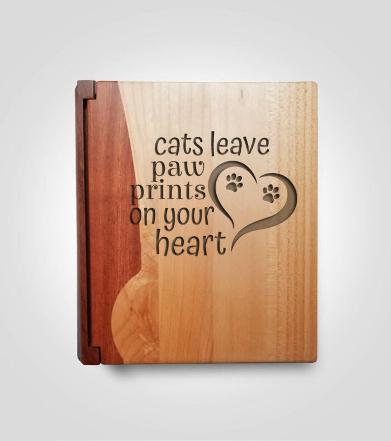 Cat Lover Gift for Friend Engraved Photo Album for Proud Cat Mom Personalized Cat Album Cat Lover Christmas Gift Album for Cat Pictures