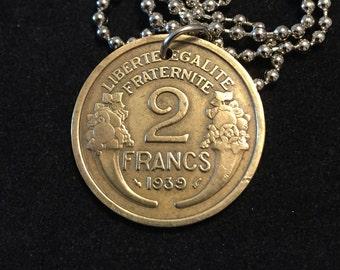 Lucky Coin Pendant Rare Coin Necklace Handmade Present Rare 1939 English Sixpence Lucky Sixpence Year 1939 Coin Rare Gift for Women