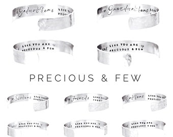 Womens Gift | Mothers , Sisters , Friends , Godmothers , Grandmothers like you are precious and few |Gift ideas for Her|Cuff Bracelet (C126)