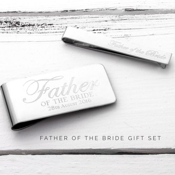 Father of the Bride Gift Ideas | Father of the Groom Gift Ideas | Custom Money Clip, Tie Clip | Personalized Money Clip, Tie Clip (W277)