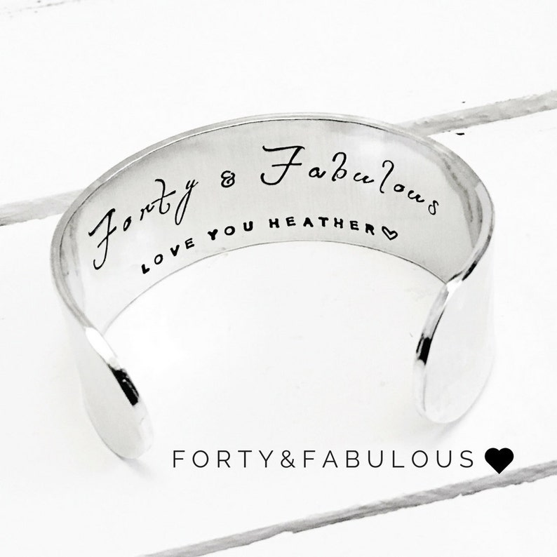 Forty and Fabulous Cuff Bracelet