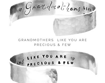 Womens Gift | Personalized Cuff Bracelet | Mothers, Sisters, Friends, Godmothers, Grandmothers like you are precious and few | Gift (C143)