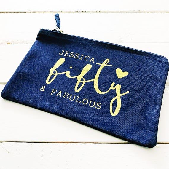 Fifty and Fabulous Makeup Bag