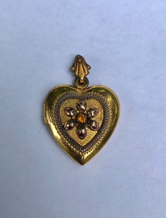 Rare Victorian antique heart locket