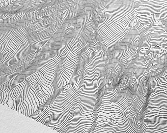 Mount Rainier Letterpress Topographic Map - Washington Wall Decor - Mt Rainer Art - Topo Map Gifts