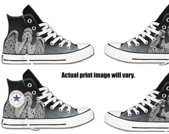 1cadb505868f Weeping Angels Custom Converse All Stars
