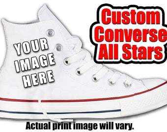 Custom Converse All Stars with your design  sc 1 st  Etsy & Custom converse   Etsy